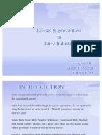 Losses in Dairy Industry