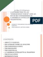 V S Naipaul an Analysis