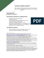 Catechism Timeline Details
