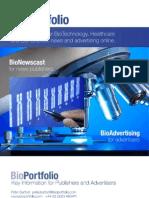 Bio Portfolio Media Pack 2012