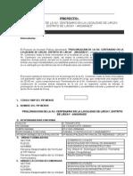 Perfil Prolongacion Av. rio