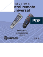 Manual Control Universal Steren Rm-7