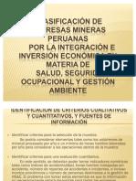 Trabajo 01 - Clasificación Mineras Integración HS&E (v. 1.1)
