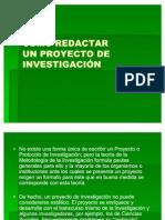 Como Redactar Un Proyecto de Investigacion