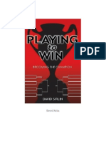 David Stirlin - Playing to Win - Becoming the Champion