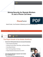 Webcast - Strong Security for Remote Workers - 091411 - Final