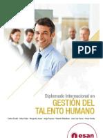 Tríptico Diplomado Internacional en Gestión de Talento Humano