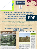 Entre os Objetivos do Milênio, no Brasil e no RJ as Metas de Saneamento Ficam Para Tras