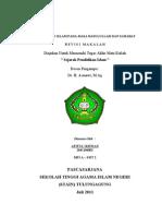 Afif Pendidikan Islam Masa Rasul - Lengkap UAS  PPs IAIN Tulungagung Jatim