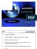 Avasant - Outsourcing Vendor Selection Webinar 4-21-11 v4-2
