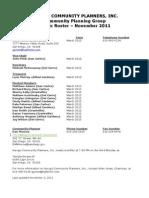 NCPI Public Roster 11-03-11