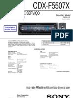 Sony Cdx f5507x