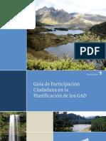 GUÍA DE PARTICIPACIÓN CIUDADANA EN LA PLANIFICACIÓN DE LOS GAD´S SENPLADES REGIONAL 4