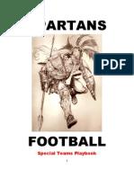 Spartans Special Teams Playbook - 2011