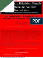 Friedrich Engels - El Origen de La Familia%2C La Propiedad Privada y El Estado