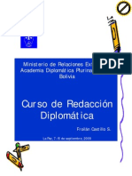 Curso sobre Redaccion Diplomatica, Academia Diplomática
