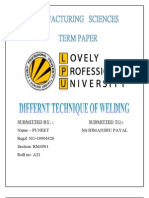 Puneet Manufacturing Sciences(Term Paper)
