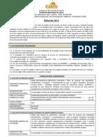 EDITAL - PEFEITURA DE CAICÓ - 2012
