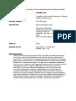 Formative&Summative Assessmnt - EDCI 200 Z2 - Course Syllabus