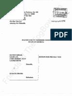 2012-02-13 Farrar v Obama - Taitz Motion for Pro Hac Vice