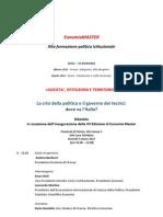 Programma Vii Edizione Eunomiamaster