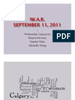 Presentation after !War screening