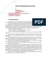 Elemente de Termodinamica Biologica