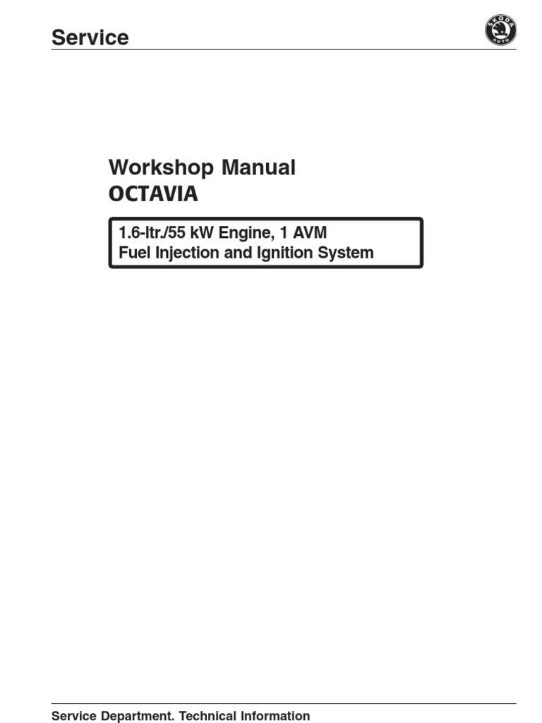 manual skoda octavia 1 6 55kw avm throttle fuel injection rh scribd com