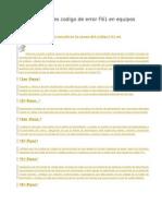 Comprobaciones Codigo de Error F61 en Equipos Panasonic