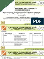 Monitorias I Semestre Promoción Socioeconomica 2012 - copia