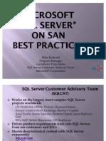 Mike Ruthruff SQLServer on SAN SQLCAT