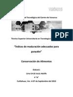 Indices de Maduracion en Guayabas