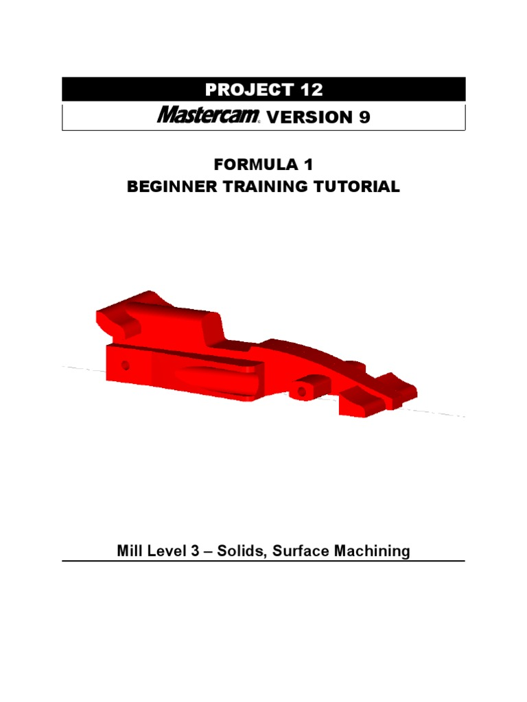 mastercam v9 beginner f1 tutorial computing technology rh scribd com