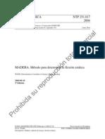 NTP 2004 MADERA. Método para determinar la flexión estática