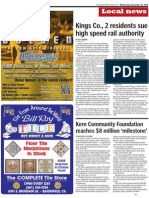 The Bakersfield Californian - Kings County, 2 residents sue High Speed Rail Authority