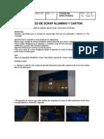Instructivo Para El Traspaleo y Acomod de Scrap