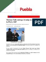 19-02-12 Sexenio Puebla - Moreno Valle Entrega 14 Mdp en Equipo a La PGJ Y SSP