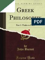 Greek Philosophy - 9781440080401