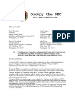 Occupy the SEC Volcker Rule Comment Letter