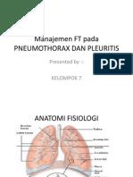 Manajemen Ft Pada Pneumothorax Dan Pleuritis