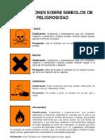 Simbolos de peligrosidad de laboratorio de química orgánica ESPOL