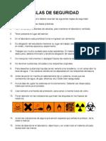 Reglas de seguridad de laboratorio de química orgánica ESPOL