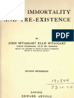 McTaggart John Ellis HUMAN IMMORTALITY AND PRE EXISTENCE London 1906 Rep 1916