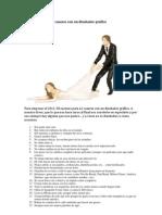 50 razones para no casarse con un diseñador gráfico