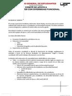 Cuarto Informe - Comité de Apoyo a Estudiantes Con Diversidad Funcional