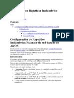 Configuracion Repetidor rico AirOS