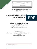 I.Q. PRÁCTICAS DE LABORATORIO QUIMICA INORGANICA.