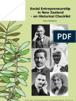 Tony Simpson - NZ Social Entrepreneur Historical Checklist 2006