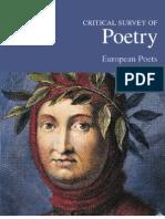 Critical Survey of Poetry - European Poets