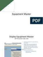 Equipment Master